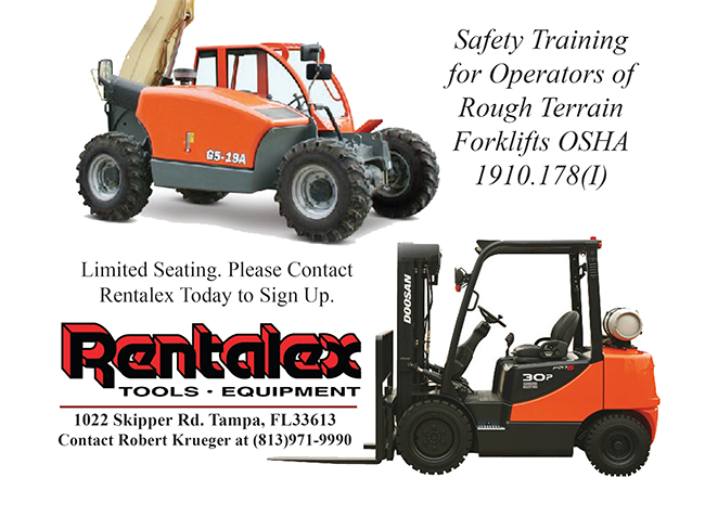 Forklift Operating & Safety Training Class 8/8/15 – Sign Up Today!
