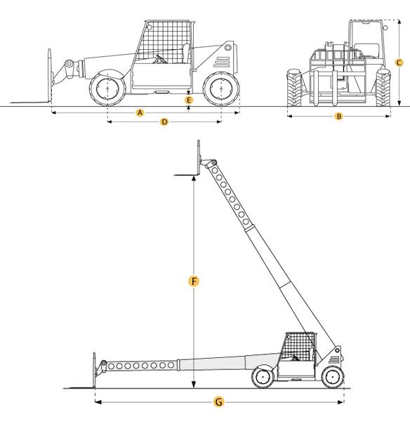 Manitou 5KLBS Reach Forklift