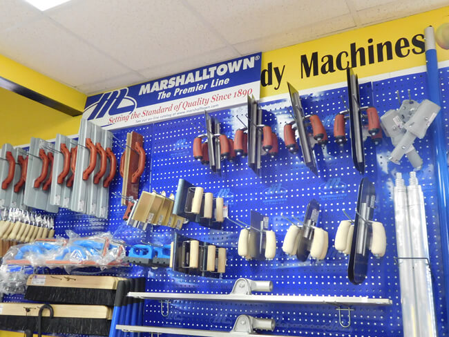 Marshalltown concrete tools