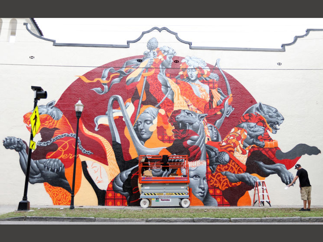 Tristan Eaton Art – Bern's Steak House Mural