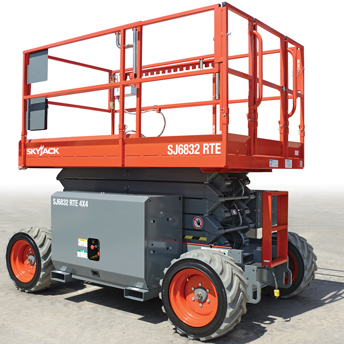 Rough Terrain Scissor Lift Model SJ6832 RTE