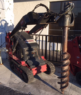 Auger Bit Skid Steer Attachment