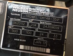 Wacker Neuson CRT 48-35V Trowel