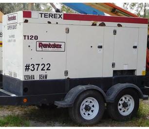 2006 Generator 120KVA Terex Trailer