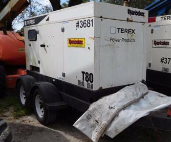 2004 Generator 80KVA Terex Trailer