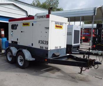 2005 Generator 90KVA Terex Trailer