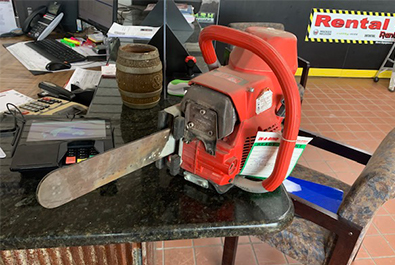ICS Red 12in Gas Concrete Chain Saw