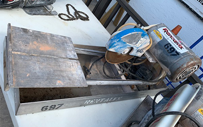 Electric Tile Saw with Diamond Blade and Pump